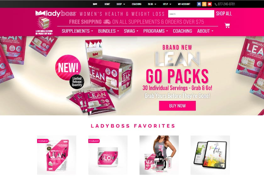 LadyBoss Health And Weight Loss Online Store